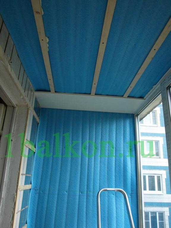 Отделка потолков на лоджии пластиковыми панелями своими руками