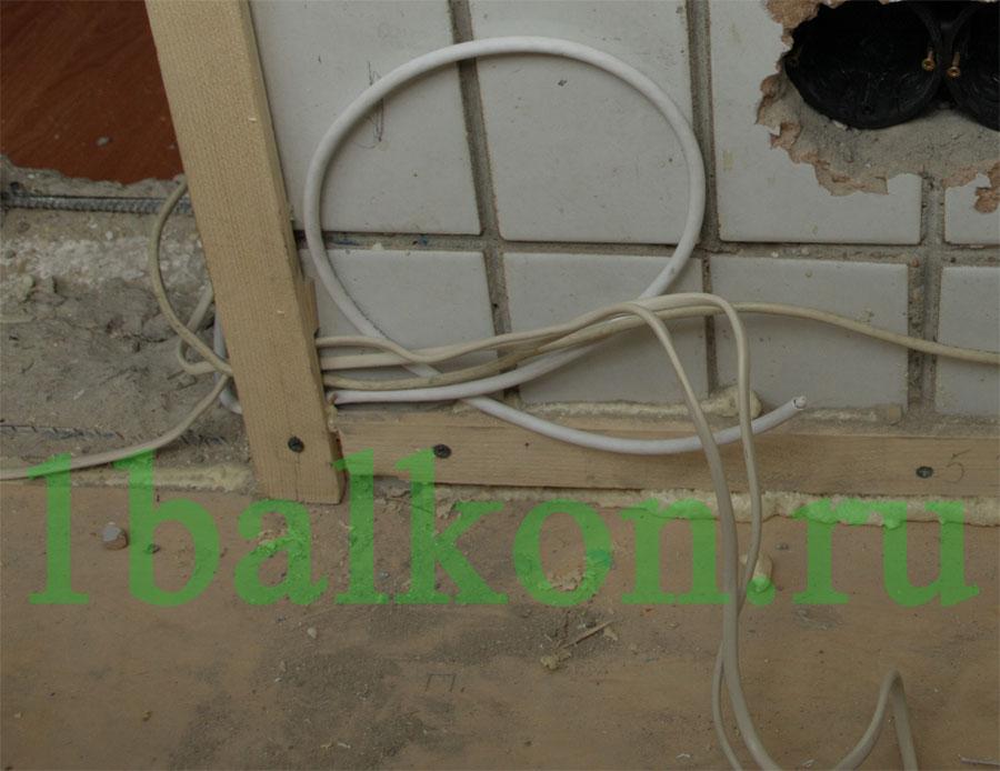 Электрика на балконе.